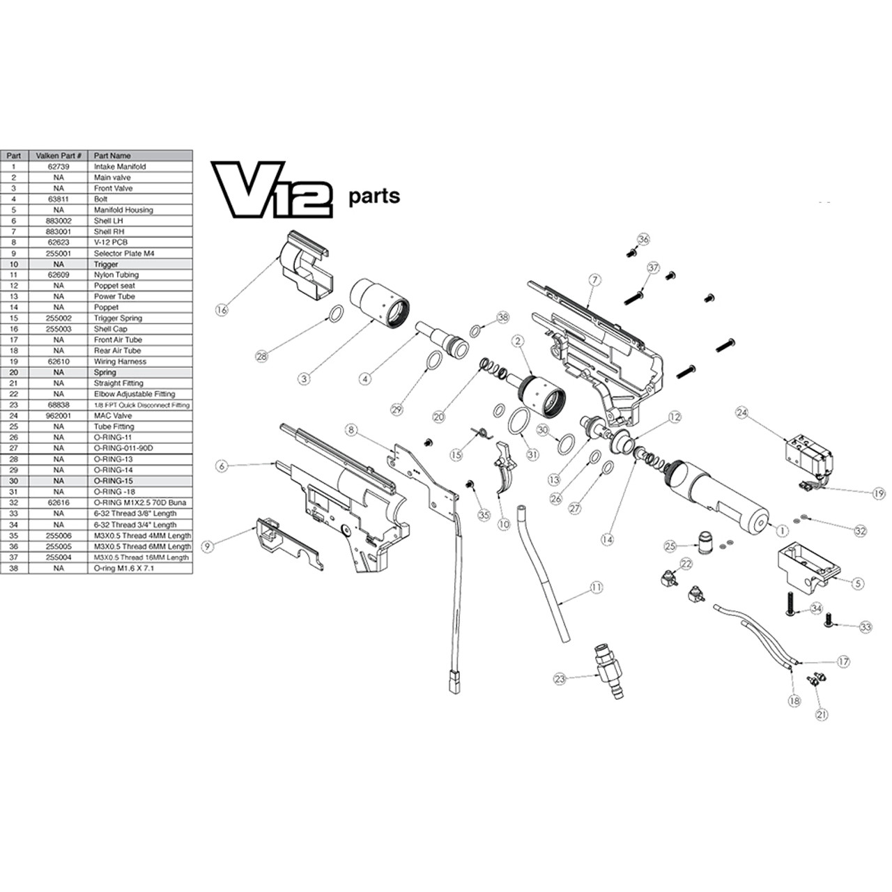 V12 Engine Diagram Wiring Diagrams Schematics 2001 Mercedes Cl600 Fuse Valken Hpa Mir Tactical V4
