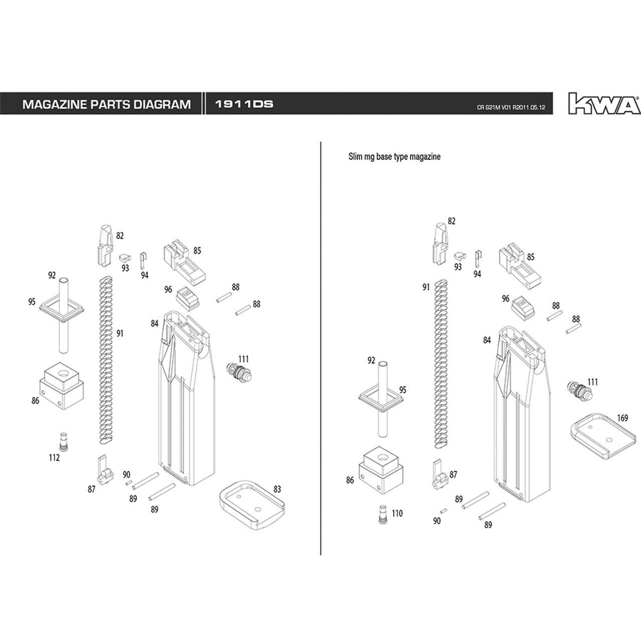 Kwa airsoft 1911 ds pistol magazine diagram mir tactical kwa airsoft 1911 ds pistol magazine diagram ccuart Gallery