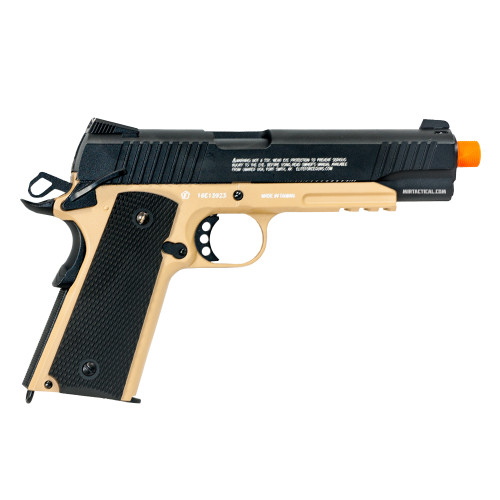 1911 TACTICAL CO2 AIRSOFT PISTOL BLACK / TAN