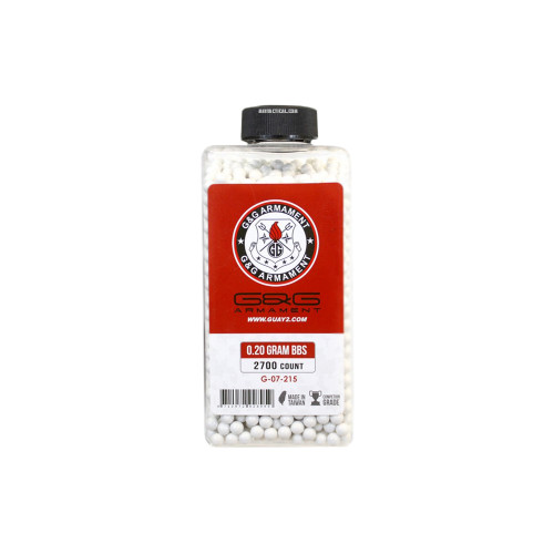 0.20G BB 2700 BOTTLE WHITE