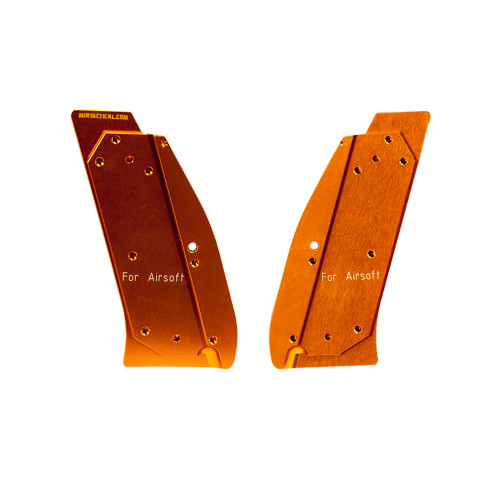 AIRSOFT GRIP SHELLS FOR CZ SP-01 ORANGE