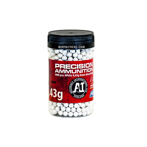 0.43G 6MM AIRSOFT BBS 1000 BOTTLE WHITE