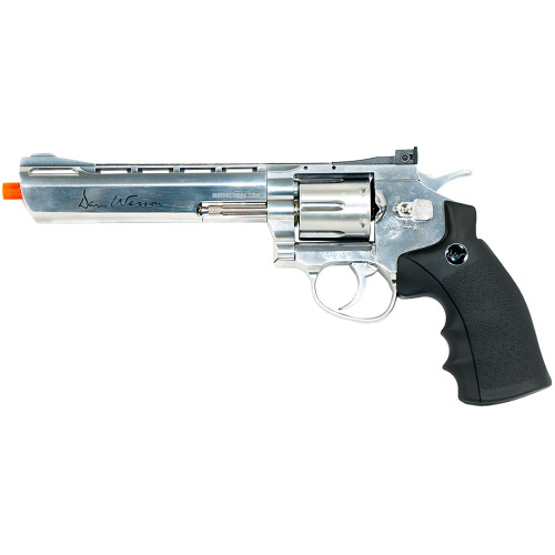 DAN WESSON 6` SILVER AIRSOFT REVOLVER CO2