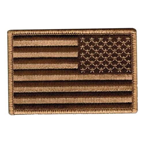 US FLAG REVERSED DESERT PATCH