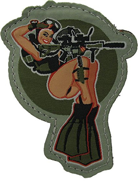 DIVE GIRL FULL COLOR PATCH