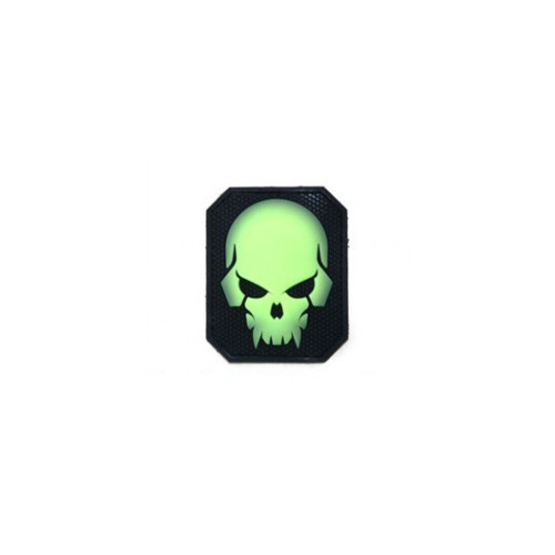 PIRATESKULL LARGE PVC GREEN GLOW PATCH