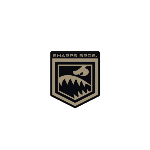SHARPS BROS PVC BLACK/TAN PATCH