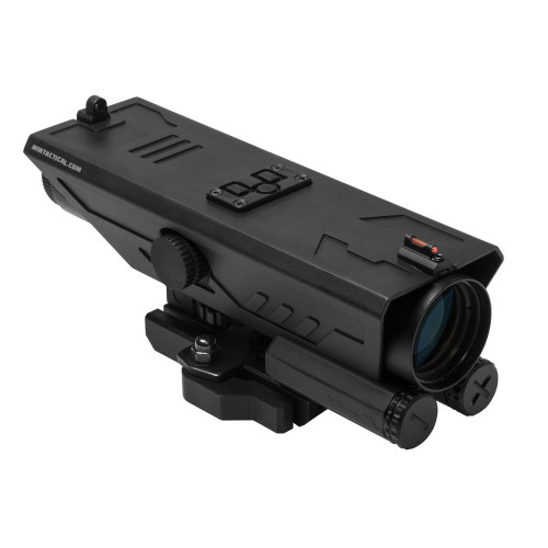 DELTA 4X30 SCOPE W/ WHITE RED NAV LED BK