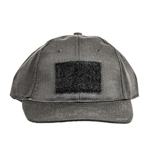 6 PANEL TACTICAL CAP W/LOOP BLACK