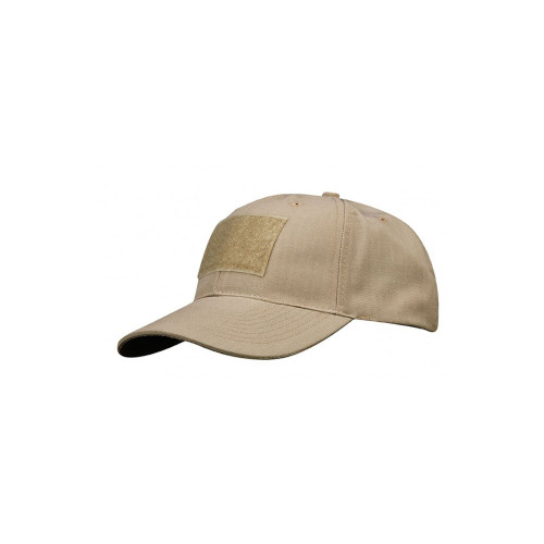 6 PANEL TACTICAL CAP W/LOOP KHAKI
