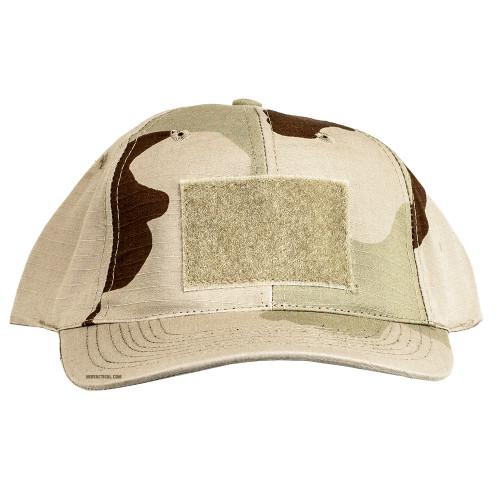 6 PANEL TACTICAL CAP W/LOOP 3 DESERT