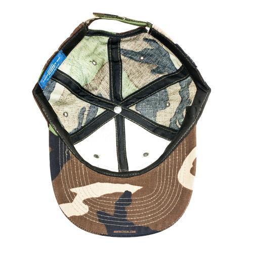 6 PANEL TACTICAL CAP W/LOOP WOODLAND