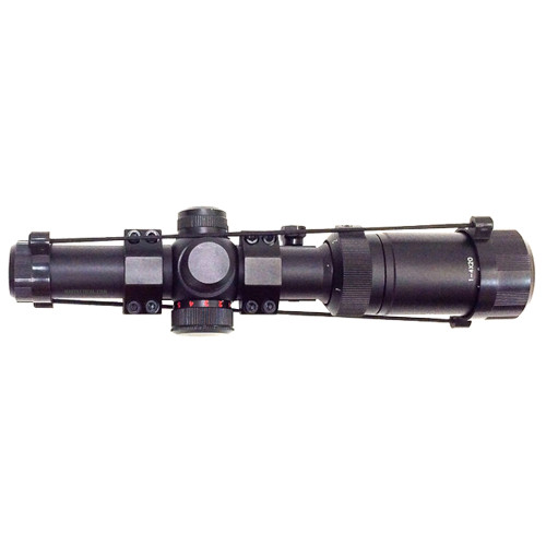 TACTICAL SCOPE 1-4X20 W/MOUNT