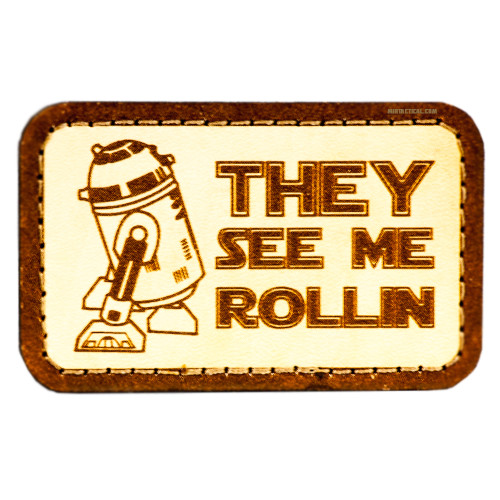 R2-D2 ROLLIN STAR WARS ONE VELCRO PATCH