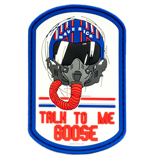 TALK TO ME GOOSE TOP GUN VELCRO PATCH