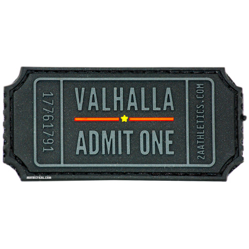VALHALLA ADMIT ONE VELCRO PATCH