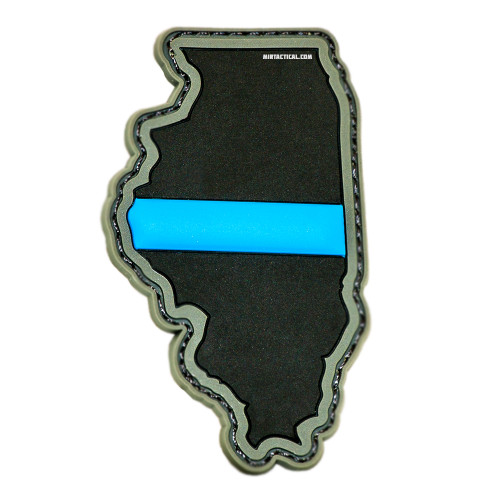 THIN BLUE LINE ILLINOIS VELCRO PATCH