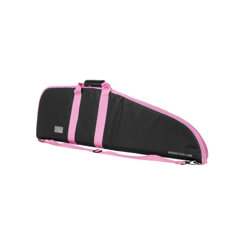 RIFLE CASE 36 INCHES BLACK W/ PINK TRIM