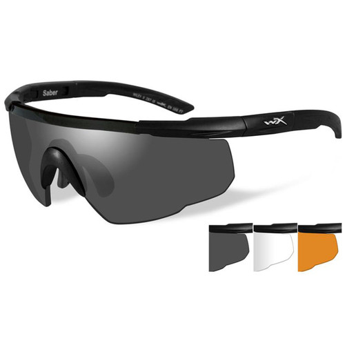 SABER ADVANCED 3 LENS BALLISTIC SUNGLASSES KIT
