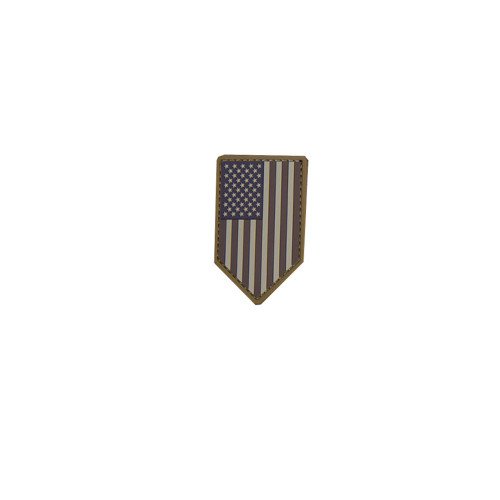 US FLAG VERTICAL SHIELD PVC DESERT PATCH