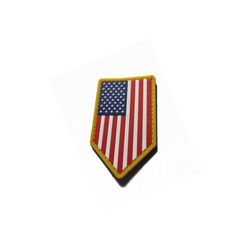 US FLAG VERTICAL SHIELD PVC COLOR PATCH