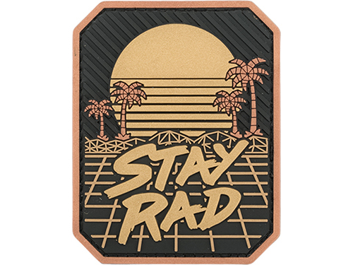 STAY RAD PVC BLACK GOLD PATCH