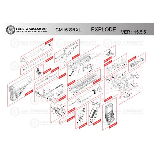 G&G AIRSOFT CM16 SRXL RIFLE DIAGRAM