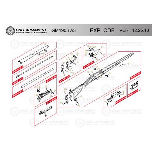 G&G AIRSOFT GM1903 A3 RIFLE DIAGRAM