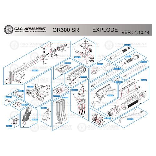 G&G AIRSOFT GR300 SR RIFLE DIAGRAM