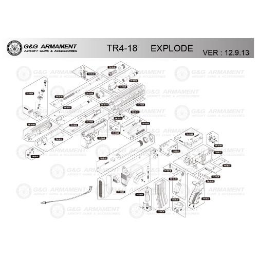 G&G AIRSOFT TR4-18 RIFLE DIAGRAM