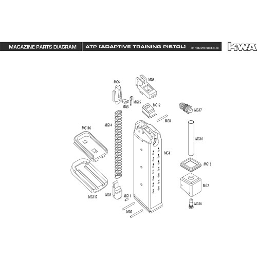Kwa airsoft kz75 magazine diagram mir tactical kwa airsoft atp magazine diagram ccuart Image collections