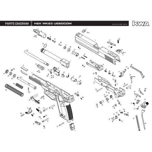 Kwa Airsoft Hk Mk23 Ussocom Pistol Diagram Mir Tactical