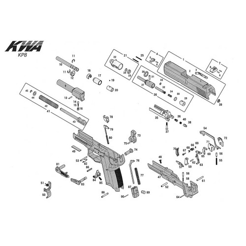 KWA AIRSOFT KP8 PISTOL DIAGRAM