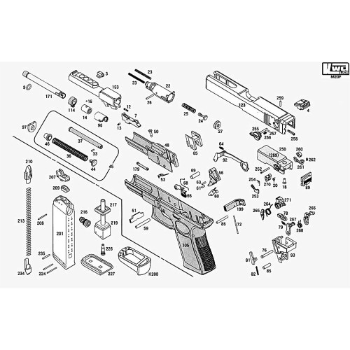 KWA AIRSOFT M23F PISTOL DIAGRAM
