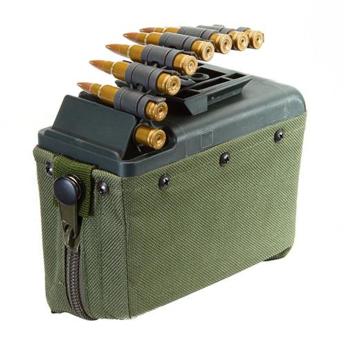 LMG 1100RND AIRSOFT MAGAZINE BOX GREEN