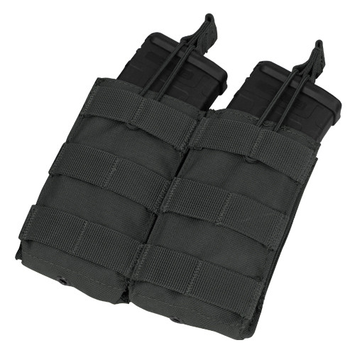DOUBLE M4/M16 OPEN TOP MAG POUCH BLACK