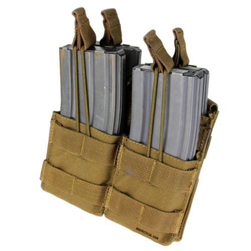 DOUBLE STACKER M4 MAG POUCH COYOTE