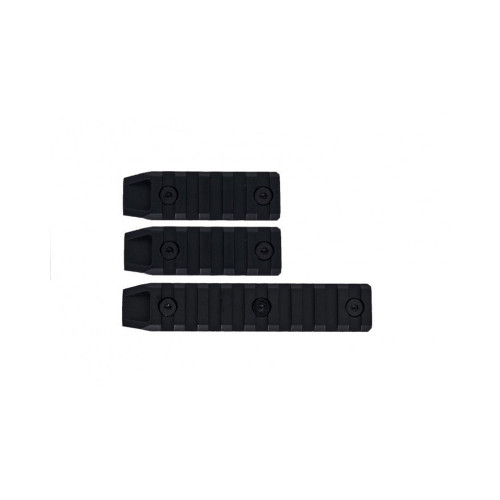 3PC METAL KEYMOD RAIL SLOT SET BLACK