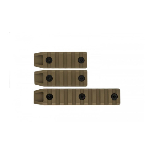3PC METAL KEYMOD RAIL SLOT SET TAN