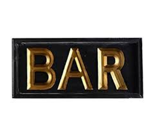 Solid Wood BAR Sign