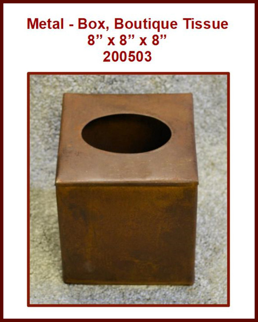 Metal - Box, Boutique Tissue 8 x 8 x 8 (200503)