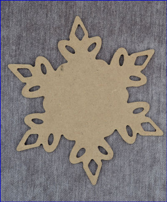 "Snowflake Charger # 3 - Available in 3 Sizes 16"", 13"",  8"""
