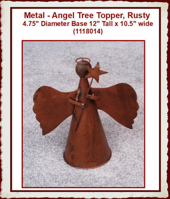 Metal - Angel Tree Topper, Rusty (1118014)