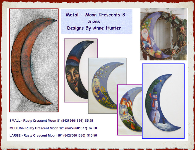 Crescent Moon - 3 Sizes