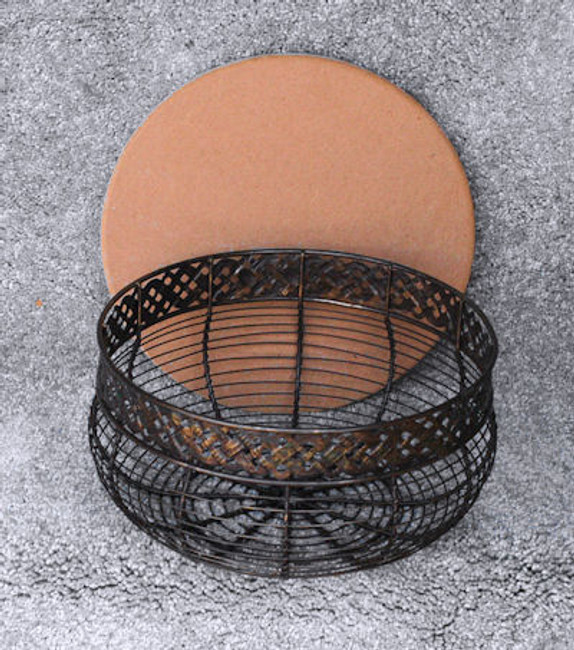 Antique Wire Basket with MDF Lid.