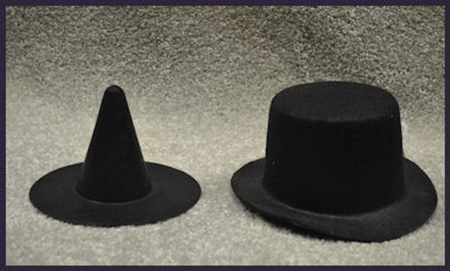 Felt Hats - 2 Styles Witch's Hat 8267625737 Derby 8267625692