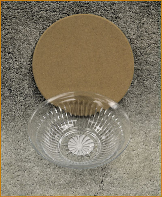 "Glass Bowl with 7"" MDF Lid"