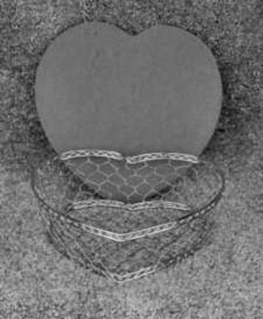"Basket - Heart Basket, Small Silver with Lid ~ 8""x 8"" x 2"" (232002)"
