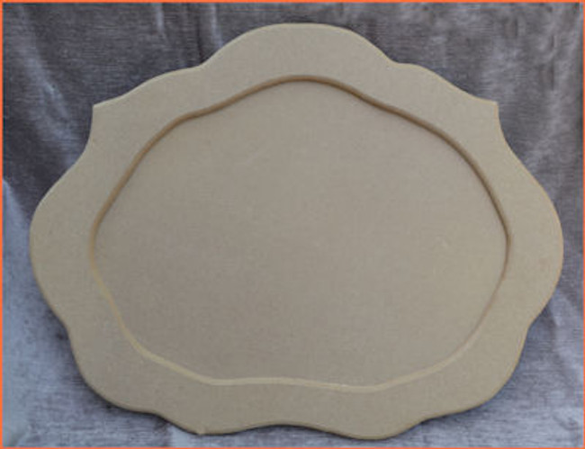 Wood Scalloped Tray