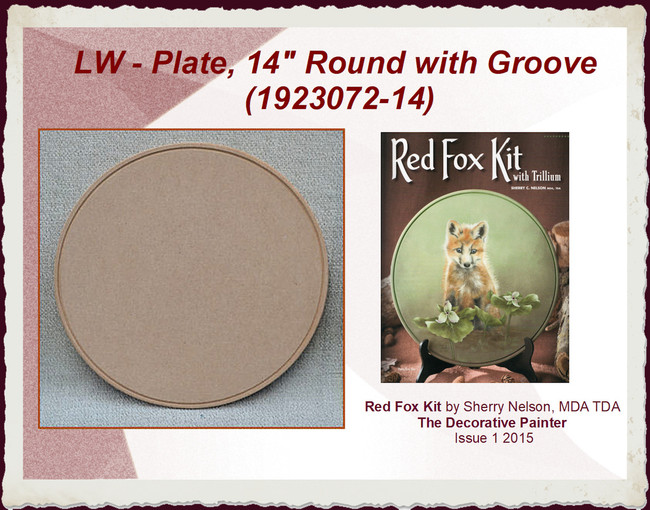 "LW - Plate, 14"" Round with Groove (1923072-14)"